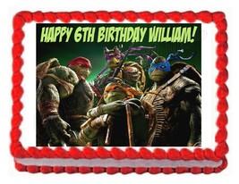 TMNT 2014 Teenage Mutant Ninja Turtles party edible cake topper frosting... - $7.80