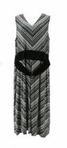 Nina Leonard Miter Stripe Stretch Midi Dress BLACK 1X NEW 652-643 - $24.73