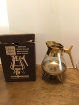 Vintage Inland Glass Coffee Pot~Instant Coffee Maker/Server w/Warmer & Box - $20.00