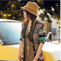 Summer Style Women Ladies Foldable Hat Tops Floppy Beach Hat Sun Straw Hat Cap image 4