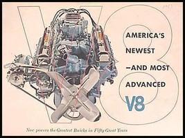 1953 Buick V8 Color Brochure, Original GM - $11.55