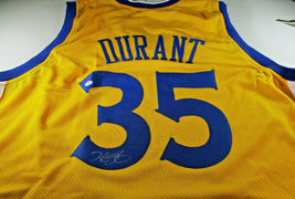 KEVIN DURANT / AUTOGRAPHED GOLDEN STATE WARRIORS CUSTOM BASKETBALL JERSE... - $148.45