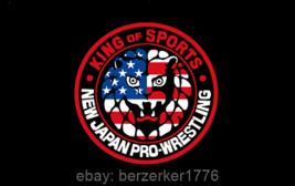 New Japan Pro-Wrestling USA King of Sports 3'x5' black flag banner WCW WWF WWE - $25.00