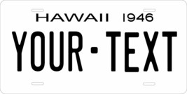 Hawaii 1946 License Plate Personalized Custom Auto Bike Motorcycle Moped Key Tag - $10.99+