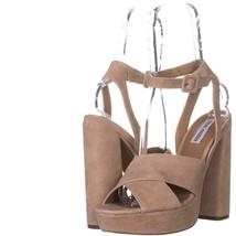 Steve Madden Jodi Platform Sandals 696, Blush SUede, 10 US - $39.35