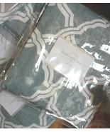 Pottery Barn Set 2 Kendra Drape Porcelain Blue 50x108 Curtain Fretwork Pair - $199.00