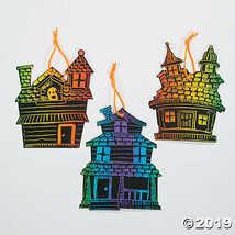 Haunted House Magic Scratch Ornaments - $9.11