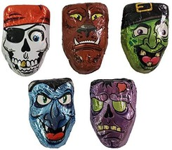 Halloween Scary Faces Wrapped Chocolate 2 Pounds Approximately 66 Pieces... - $20.18