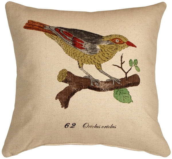 Primary image for Pillow Decor - Bird on Branch 20x20 Throw Pillow