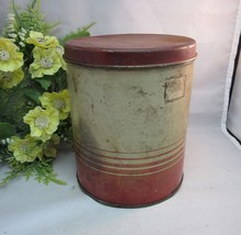 Vtg Old Reliable Coffee tin litho coffee can for home decor, storage - $18.99