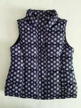 Gap Kids Outlet Polka Dot Puffer Vest Purple Navy Fleece Lined Size XS 4/5 - $11.99