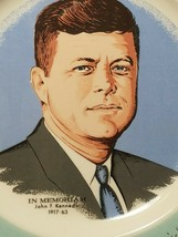 "VINTAGE JOHN F. KENNEDY IN MEMORIAM COLLECTABLE PLATE 1917-1963 10"" image 2"
