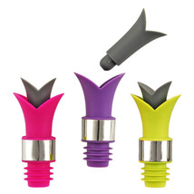 Pourer Stopper, Lily Funny Decorative Novelty Reusable Bottle Stopper Po... - £13.86 GBP