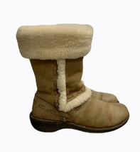 Ugg Australia Elijo Leather And Sheepskin Ankle Boots Booties Size 8 - $60.71