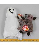 Lot of 2 TY Beanie Babies with Tags Sheets The Ghost Batty Bat tthc - $9.89