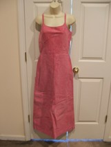 Nwt $299 Newport News Hot Pink Soft Suede Fully Lined Long Dress Sleeveless Sz 8 - $118.79