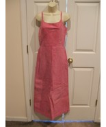 NWT $299 NEWPORT NEWS HOT PINK soft suede FULLY LINED long DRESS SLEEVEL... - $118.79