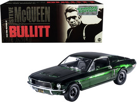 "1968 Ford Mustang GT Green Chrome Edition \""Bullitt\"" (1968) Movie 1/18 ... - $103.98"