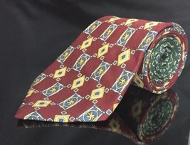 Tommy Hilfiger 100% Silk Neck Tie red yellow green blue royal  - $13.48