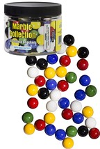 Chinese Checkers Glass Marbles, Set of 60, 10 of each Color, with Portab... - $13.96