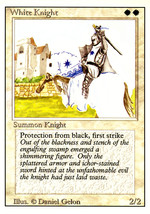 Magic: The Gathering 3rd Edition - White Knight - $0.25