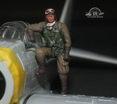 Japanese JNAF Pilot WW2 1:48 Pro Built Model #1 - $24.75