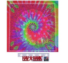 USA MADE Hav-A-Hank TIE DYE PAISLEY Swirl BANDANA BANDANNA SCARF Scarve ... - $7.98