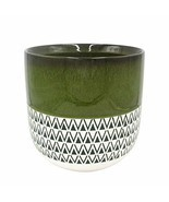 "Stone & Beam Mid-Century Patterned Planter, 10.53""H, Dark Green - $55.38"