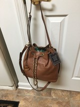 NWT Michael Kors Frankie Large Leather Convertible Drawstring Shoulder B... - $252.99