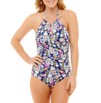 Liz Claiborne Paisley One Piece Swimsuit Size 8, 10, 12, 14 Msrp $89.00 - $34.99