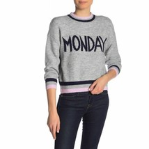 "CodeXmode- Women's Gray ""Monday"" Days of the Week Sweater New S - $23.28"