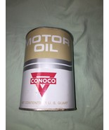 1970s Vintage Conoco Supreme Tracon Motor Oil Tin Can Full Old Logo GC w... - $22.75