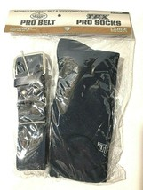 Navy Baseball Belt & Sock Combo Pack Size Large Sock 9 -13 Belt 24 - 44 - $11.87