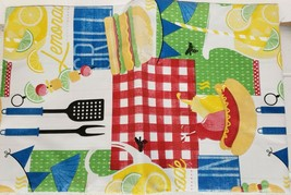 "FLANNEL BACK VINYL TABLECLOTH 52"" x 104"" (8-10 ppl) BBQ,PICNIC,LEMONADE,... - $17.81"