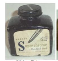 Parker Super Chrome 3oz Blue Black Ink Bottle - $4.74