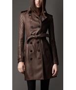 Women Genuine Biker Leather Trench Coat Lambskin Sizes S,M,L,XL,XXL Cust... - $245.50+