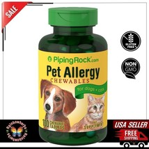 Pet Allergy for Dogs & Cats Multivitamin Minerals Supplement 100 Chewabl... - $15.83