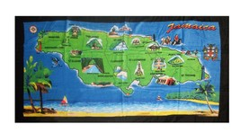 "Beach Blanket Towel Island of Jamaica 30""x60"" NEW 100% Cotton - $21.88"