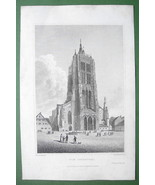 GERMANY Ulm Cathedral - 1823 Antique Print by Cpt Batty Engraving - $26.01