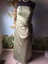 Mori Lee Women's Pastel Green Satin Draped Dress SZ 20 - $39.59