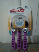 First Essentials by NUK Kiddy Cutlery Spoon Fork Knife Set 18m+ - $3.99
