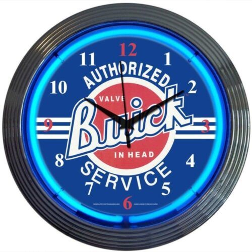 "Primary image for GM Buick Service Neon Clock 15""x15"""