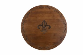 Thirstystone Bamboo Lazy Susan Cheese Board, Fleur De Lis, Brown - $36.08