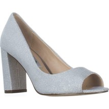 Nina Farlyn Peep-Toe Dress Pumps, Silver Luna, 6 US / 36 EU - €29,32 EUR
