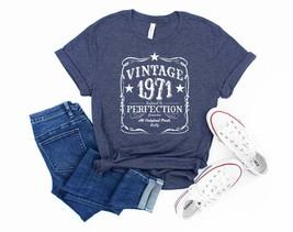 Vintage 1971 Retro Shirt 50th Birthday 50th Birthday Gift 50th Birthday ... - $18.99