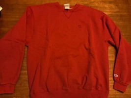 vintage champion Brand sweatshirt Red XL Excellent Condition Logo Crewneck - $33.25