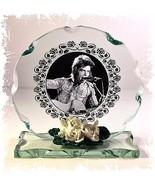 David Bowie B & W Cut Glass Round Plaque Memories Limited Edition Unique #1 - $32.07