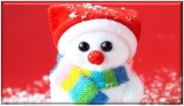 Snowman Acrylic Fridge Magnet #5 - $2.49