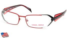 New Alain Mikli Ml 1021 0004 RED/BLACK Eyeglasses Frame 53-17-135mm B29mm - $59.38