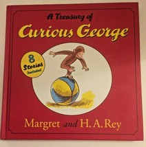 A Treasury of Curious George  by Margaret & Rey, H. A. Hardcover Bedtime... - $16.99